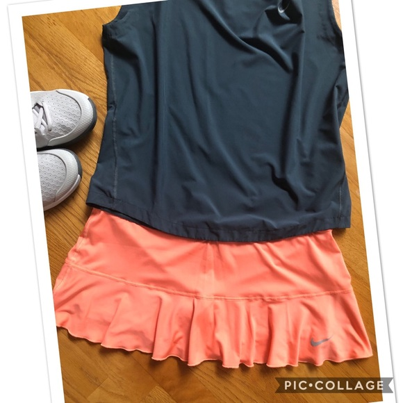 Nike Dresses & Skirts - Nike Flounce skirt, bright coral - tennis/running